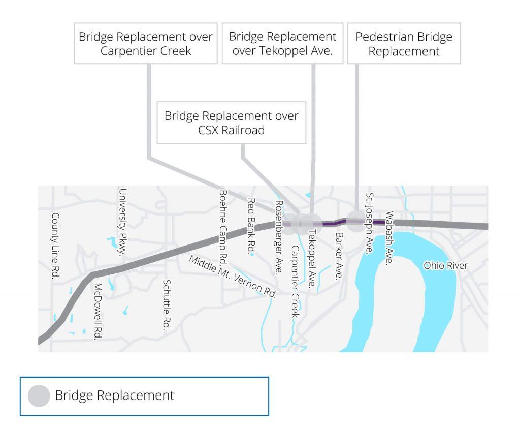 Bridge Replacements Map