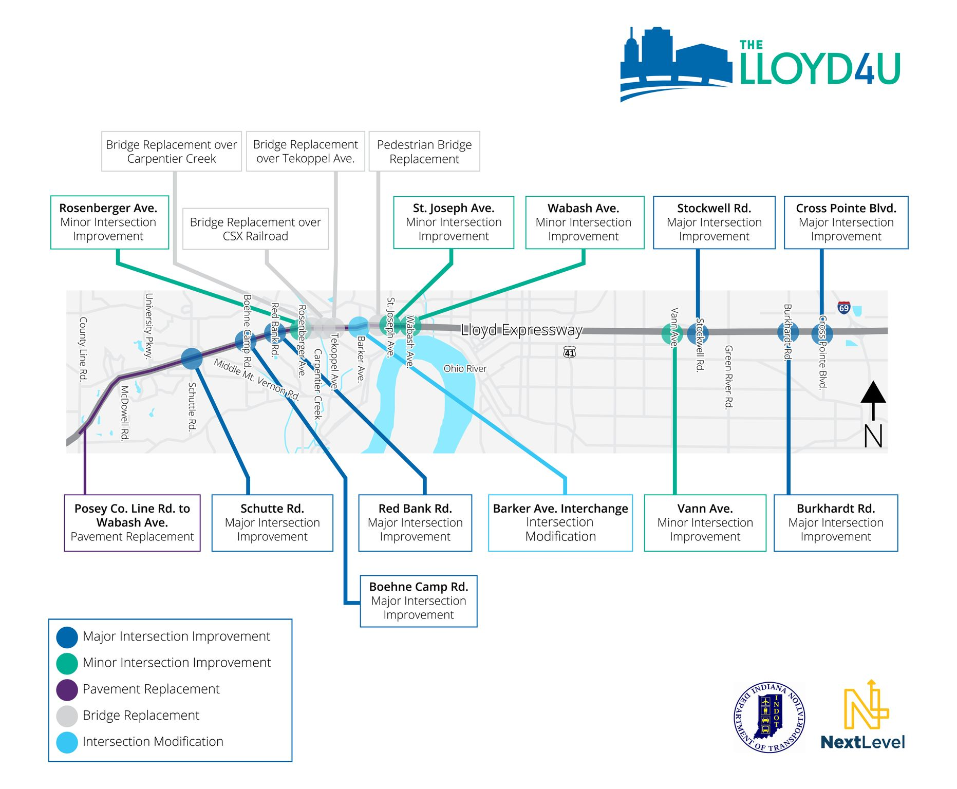 Lloyd Expressway Improvements Map